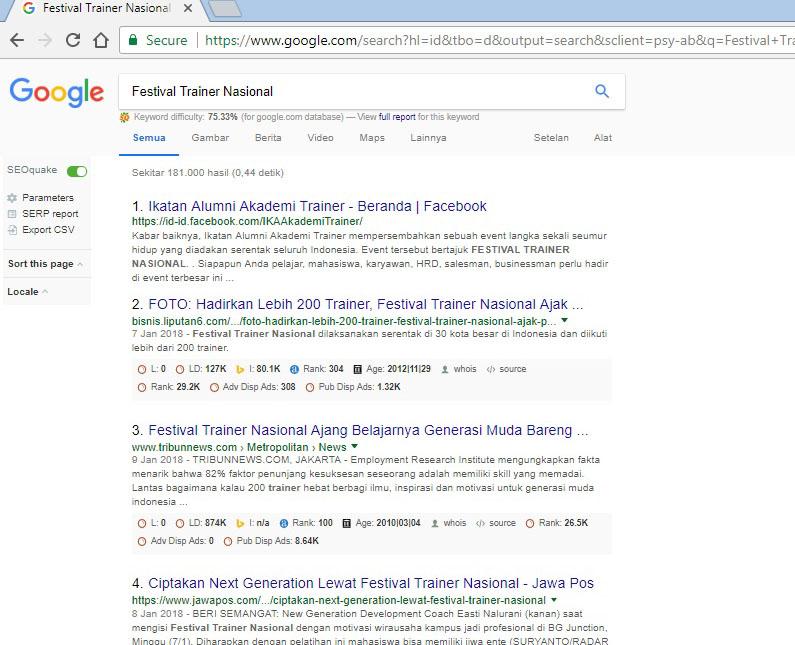 Festival Trainer Nasional Menjadi Sorotan Media Nasional - Corporate Training Indonesia